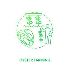 Oyster farming concept icon vector