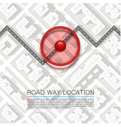 Paved path on the road vector