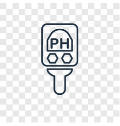 ph meter concept linear icon isolated on vector image