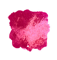 pink watercolor stain vector image