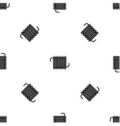 radiator pattern seamless black vector image