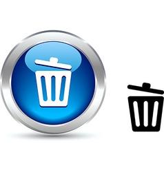 Recycle bin button vector