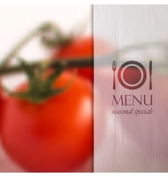 Restaurant menu design with background of bunch of vector