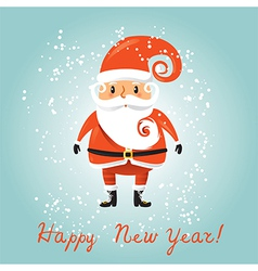 Santa Claus for retro christmas card vector image