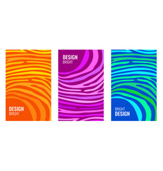 set bright vertical abstract cover color strips vector image