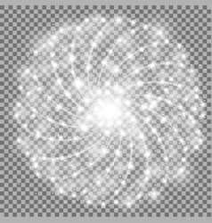 Shining stars with star dust white color vector