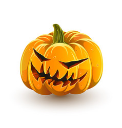 Sinister halloween pumpkin vector