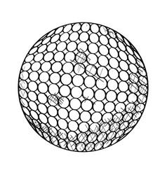 sketch of a golf ball vector image