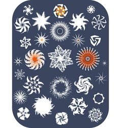 Snowflake Set Isolated vector image