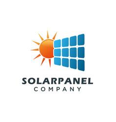 Solar panel logo template vector