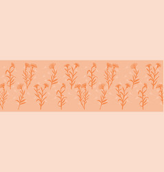 spring flowers seamless border soft pastel vector image