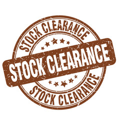 Stock clearance vector