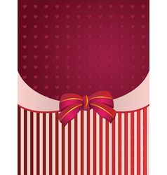 Striped background with bow vector image