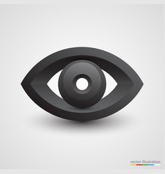Three-dimensional black eye on white background vector