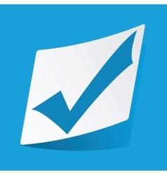 Tick mark sticker vector image vector image