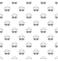 Train wagon pattern seamless vector