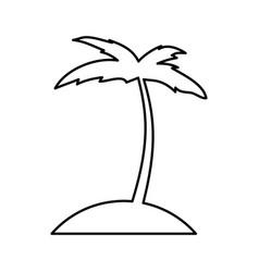 Tree palm beach icon vector