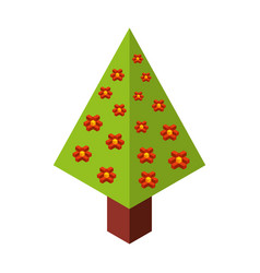 Tree plant isometric icon vector