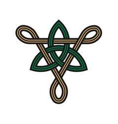 triangle trinity knot symbols vector image