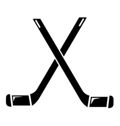 Two crossed hockey sticks icon simple style vector