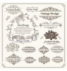 Vintage Design Elements Collection vector