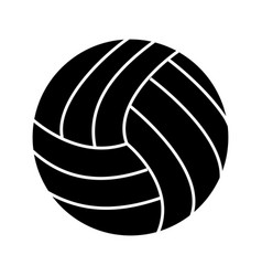Volley ball glyph black icon vector