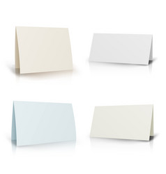 white folder paper greeting card set vector image vector image
