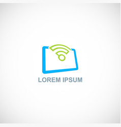 wifi icon signal logo vector image