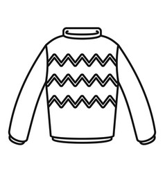 Winter sweater icon outline style vector