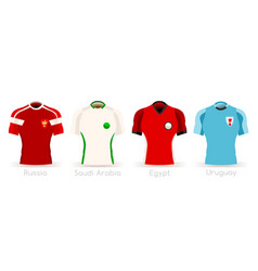 World cup group a team uniform vector