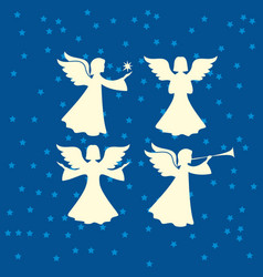 a set of angels vector image