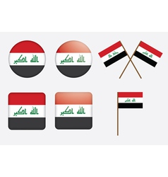 badges with flag of Iraq vector image vector image