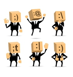Businessman in different positions vector image vector image