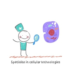 Specialist in cellular technologies is looking vector image vector image