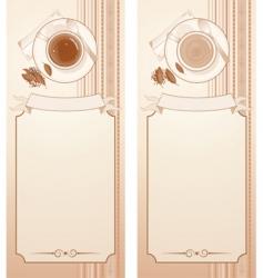 tea menu vector image vector image