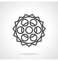 Chain sprocket line icon vector image