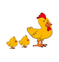 chicken farm isolated icon vector image vector image