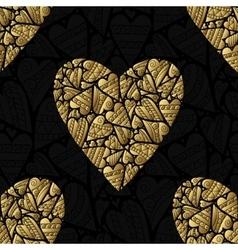 Elegant black golden seamless pattern vector image vector image