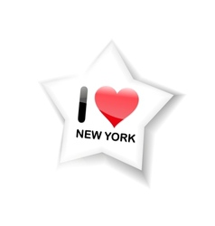 I love new york sign vector image