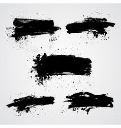 Set of black grunge splash banners Can be vector image