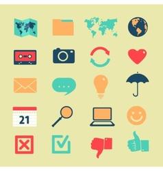 Set of symbols of widgets vector image