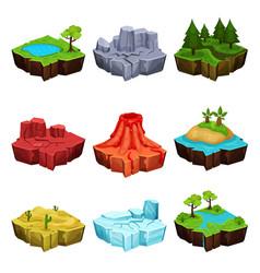 fantastic islands for game design set desert vector image