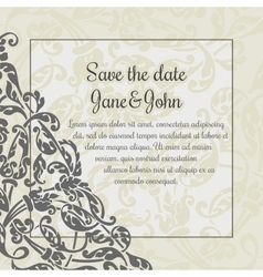 Invitation card template with flower decoration vector image