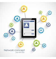 Social network background vector image