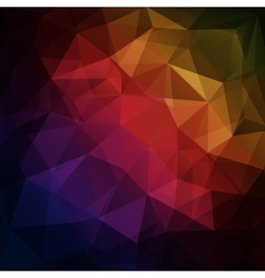 Abstract dark geometric triangle background vector image