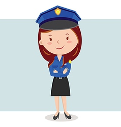 Cartoon police officer or Policewoman vector image vector image
