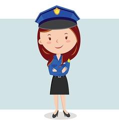 Cartoon police officer or policewoman vector