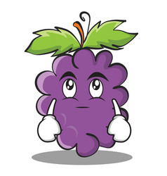 eye roll grape character cartoon collection vector image