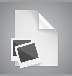 paper symbol photo frame vector image vector image