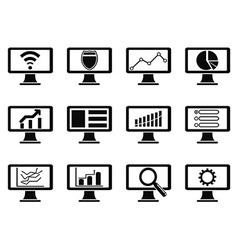 responsive screen design icon vector image vector image